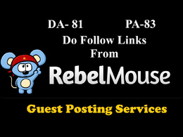Write and guest post on Rebelmouse.com (DA 72 , PR 6 ) DOFOLLOW