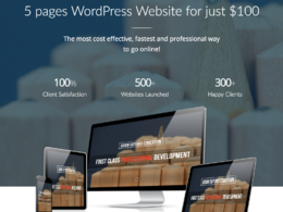 Get 5 page Best quality responsive website designed and developed in WordPress/CMS