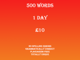 Write you 500 words for any sort of writing project