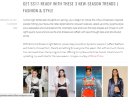 Write a 500-word fashion, lifestyle or travel blog post