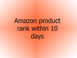 Do able amazon product rank on 1st page