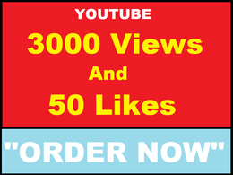 Added 3,000 High Retention Views and 50 Youtube Likes