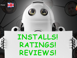 Get you 100 Android App installs,10 5 star ratings & 10 comments