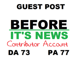 Write & Publish Guest post on Beforeitsnews