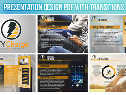 Design a presentation for your business in PDF upto to 8 slides