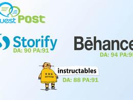 Write & publish on Universalhunt.com| Instructables |Behance