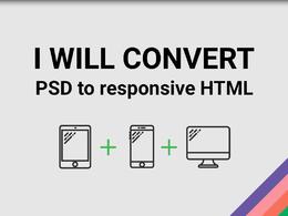 Convert PSD To responsive html Or Wordpress