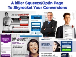 Create a killer squeeze page complete with optin & thankyou page