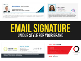 Design & Code a HTML Email Signature