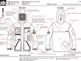 Produce a garment tech pack