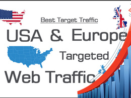 Bring 40000 USA And Europe Traffic By Social media