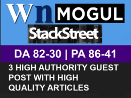 Write Publish a Guest Post on WN, Onmogul, Stackstreet