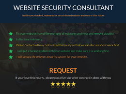 Fix your hacked , malwared or virus infected website and secure it for future