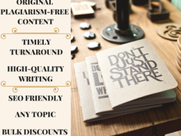 Write 500 words of well-researched content, within 24 hours.