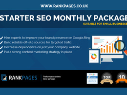 Starter SEO package for small businesses  -1st Page Google Guarantee