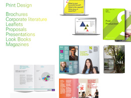 Design high quality, beautifully crafted sales brochures, leaflets, proposals