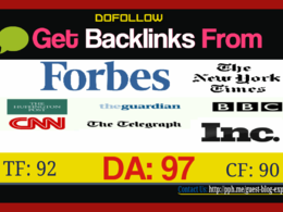 Get High Authority Backlink from BBC, CNN, Forbes, HuffingtonPost, NYTimes.
