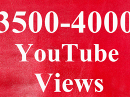 Get Promotion with 2,500 to 3,000  High Retention YouTube Video Views