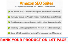 AMAZON Seo Ranking for Product Listing with Compaigns on the 1st page from any place