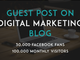 Guest post on top ranking Digital Marketing blog