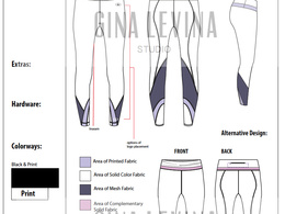 Develop Technical Drawing (Front and Back)
