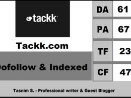 Write & Dofollow guest post on Tackk.com (DA61, PA67)