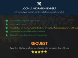 Migrate joomla website from old version to latest