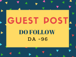 Guest Post On Travel Blog DA 96 +