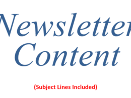 Write Content for 12 Newsletters