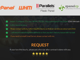 Install , fix or configure whm , cpanel or plesk in your vps or dedicated hosting