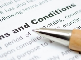 Write your website terms and conditions.