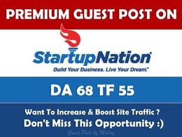 Publish Guest Post on StartupNation. Elite Guest Posting on Startupnation.com