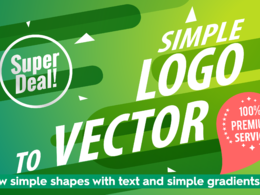 Convert simple logo to vector ai eps svg pdf
