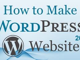 Teach wordpress with blog and set up wordpress