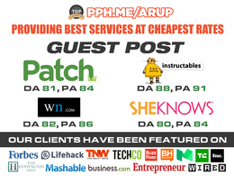 Guest post on Patch or Instructables or Wn.com or Sheknows for SEO & site authority