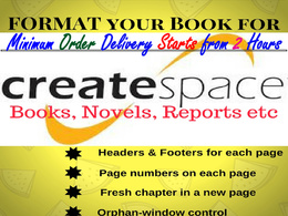 Neatly format your word document for print layout in createspace