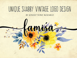 I Will Design A Shabby Chic Or Vintage Logo