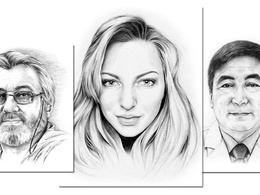 Draw a realistic pencil portrait based on your photo