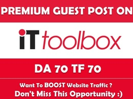 Write & Publish Guest Post on it.toolbox.com - DA70, TF70