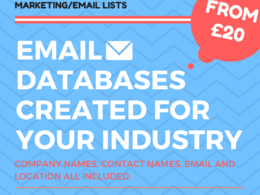 Create a list of business email leads in a sector of your choice