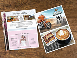 Design a premium advertisement / magazine advert or newspaper ad