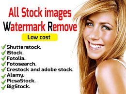 Remove watermark from any 10 stock  images