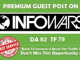 Publish Guest Post on Infowars.com - DA82, TF79 Dofollow