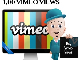 Provide you 3000 Vimeo Video Views Plays