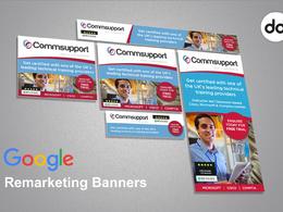 Design a set of Google Remarketing Banners