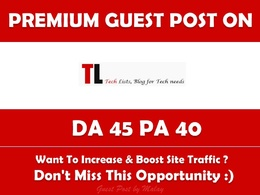 Write & Publish Guest Post on Tlists. Tlists.com - DA 45