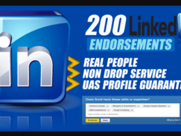 Send 200 Real LinkedIn Endorsements On Your Selected Skills
