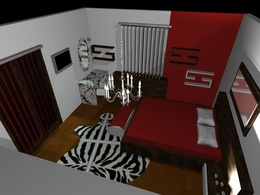 Do interior design render of a single space