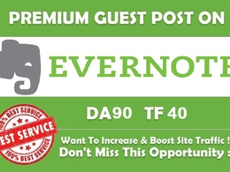 Publish Your High DA90 Unique Evernote.com Guest Post