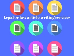 Write 550 words law article, legal article or blog on any topic